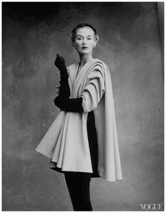 Irving Penn, Lisa Fonssagrives in coat by Balenciaga, Vogue, Sept. 1, 1950