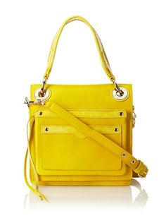 49% OFF Rebecca Minkoff Women\'s Daria Mini Box Cross-Body (Yellow)