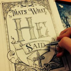 That's What He Said Book Cover Illustration by Brandon Paul, via Behance Hand Lettering and #Typography