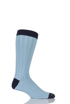 Mens 1 Pair SockShop of London 85/% Cashmere Plain Ribbed Mid Weight Socks