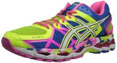ASICS Women's Gel-Kayano 21 Running Shoe,Flash Yellow/White/Black