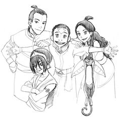 """angelasongmueller: """"WOW! Happy 10th Anniversary to AVATAR: THE LAST AIRBENDER!! (I'm a day late, it was actually yesterday) Just found this scan of a PENCIL sketch I did waaayyyyyyyy back on season 3,..."""