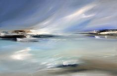 ARTFINDER: Indigo Sky by LYNNE TIMMINGTON - Love the light........sometimes the landscape and the sky become one.