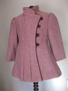 1950s girl's wool coat.