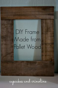 Use Pallet Wood Projects to Create Unique Home Decor Items Pallet Picture Frames, Pallet Pictures, Pallet Frames, Picture On Wood, Pallet Wood, Wood Frames, Outdoor Pallet, Pallet Mirror Frame, Pallet Patio