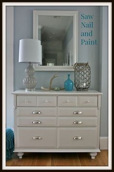 How to update a plain dresser || How to add feet to a dresser