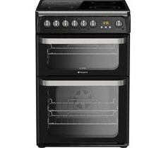 £367 HOTPOINT HUE61K S Electric Ceramic Cooker - Black