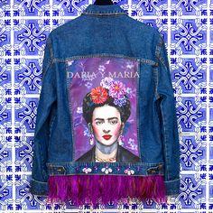"Handpainted denim jacket ""FRIDA"" for MADONNA you can shop at www.dariaymaria.com #modalisboa #lisbonfashionweek #jacketfrida #lisboa #fashionweek #italy #london #frida #fridakahlo #фрида #фридакало #курткафрида #курткасфридой #dariaymaria #madonna"