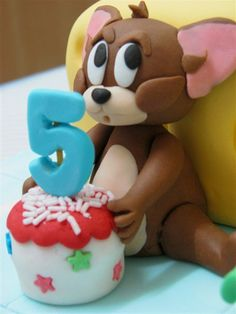 Fondant Tom Jerry cake toppers Tom Jerry cake