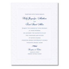 Embossed Swiss Dot Bright White Wedding Invitations