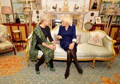 readyforroyalty via camillasgirl:  The Duchess of Cornwall greets Princess Laurentien of the Netherlands at a private meeting in Clarence House on October 16, 2013.