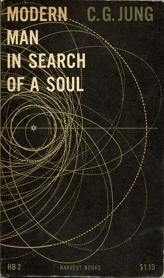 """Modern Man in Search of a Soul"" - book cover design by Erik Nitsche (circa 1955)."