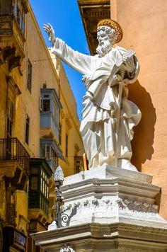 Street Corner Saint - Valletta Malta.