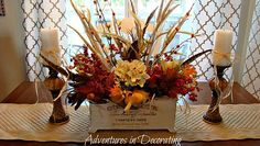 French Country painted planter centerpiece