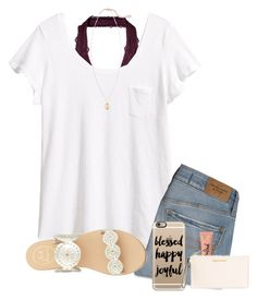 """""""Comment if you want a personalized set!"""" by toonceyb ❤ liked on Polyvore featuring H&M, Abercrombie & Fitch, Jack Rogers, Kendra Scott, Casetify, Too Faced Cosmetics, MICHAEL Michael Kors, women's clothing, women and female"""