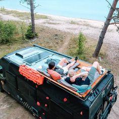 rv camping tips - rv camping . rv camping tips . rv camping with kids . Van Conversion Interior, Camper Van Conversion Diy, Diy Van Camper, Ford Transit Conversion, Sprinter Van Conversion, Van Conversion Bed Ideas, Van Conversion With Bathroom, Bus Life, Camper Life