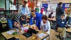 Twee workshops CodeKinderen tijdens het CNS congres in Ede voor docenten uit het speciaal onderwijs. In iedere workshop waren zo'n 20 docenten.  Op 10 september 2014 in Ede.