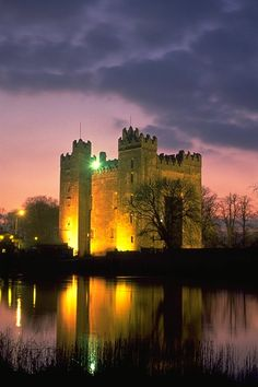 Bunratty Castle at Night.