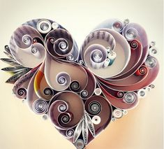 cool-colorful-quilled-paper-designs-heart | Spill my beans