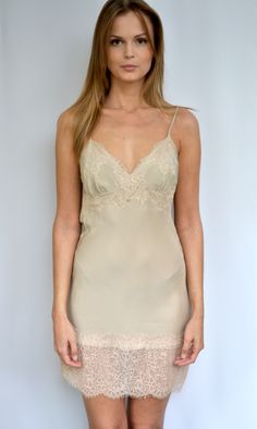 Fall 14, Fall Winter, Vintage Lace, Fashion Addict, Old And New, Cami, Lace Dress, Lingerie, Beige