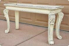 White painted coffee table (click on the photo to read the tutorial of how it was painted)