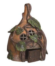 Love this Leaf Fairy House on #zulily! #zulilyfinds