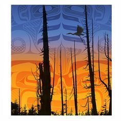Nimpkish Sunset Limited Edition Print by Andy Everson,  from the K'omoks First Nation.