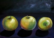 A visual display of paint works by Canadian artist Cheryl Todd Shergold. Residing in Crossfield, Alberta - Cheryl paints in oils, acrylics and watercolor. Visual Display, Canadian Artists, Cheryl, Apples, In This Moment, Watercolor, Canvas, Artwork, Painting