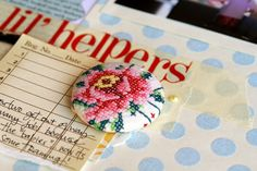 embroidered button | by Jodie @ Sweet Vintage