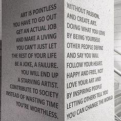 Opposing views... But we need art!