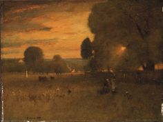 Artwork by George Inness, Sunburst, Made of oil on canvas