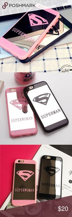 Pink mirror superwoman iPhone 6/6s/6 Plus case Brand new! Still in packaging! Very protective! Accessories Phone Cases