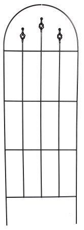 Gardman R560 48-Inch by 16-Inch Metal Finial Trellis by Gardman. $23.99. Strong weather resistant coated steel construction. Supports large vines, climbing plants and flowers. Insert into a planter or use as a stand alone trellis. Can be pushed directly into the ground. Use two or more together to form a screen. Gardman usa r560 48-inch by 16-inch metal finial trellis