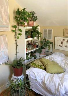 Room Ideas Bedroom, Bedroom Decor, Bedroom Inspo, Indie Room, Pretty Room, Aesthetic Room Decor, Plant Aesthetic, Cozy Room, Dream Rooms