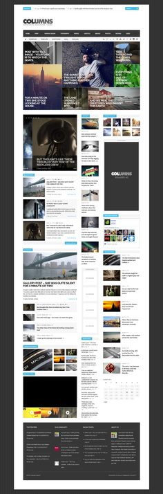Minimal, Flat and Responsive Design WordPress Themes Site Web Design, Blog Website Design, News Web Design, Wordpress Website Design, Grid Design, Blog Design, Design Design, Intranet Design, Portal Design