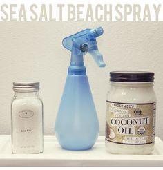 Homemade Sea Salt Beach Spray for Hair