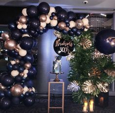 Rose Gold Balloons, Wedding Balloons, Birthday Balloons, Gold Party Decorations, Balloon Decorations, Birthday Party Decorations, Navy Birthday, Gold Birthday Party, 30th Party