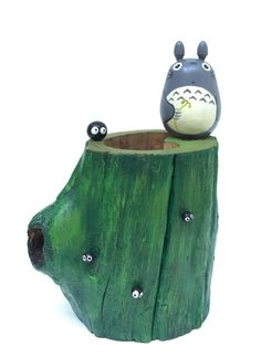My Neighbor Totoro TEAK WOOD VASE Studio Ghibli 70