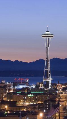 V Americe mají nádherné osvětlené  města a obrovské hory.