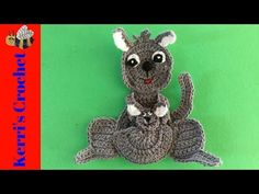 FREE pattern - Welcome to this weeks crochet pattern, a crochet kangaroo. I also have a crochet video tutorial for this pattern available at Crochet Kangaroo Tutorial. Half Double Crochet, Single Crochet, Crochet Hooks, Free Crochet, Australian Animals, Mermaid Blanket, Crochet Patterns For Beginners, Crochet Videos, Slip Stitch