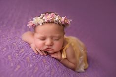Newborn Flower Headband. Newborn Headband.  Summer Blossoms Flower Halo. Newborn Flower Halo. New Born Photography Prop.UK SELLER by verityisabelle on Etsy https://www.etsy.com/listing/243093491/newborn-flower-headband-newborn-headband