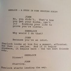 The beginning for John and Sherlock. This is wonderful.