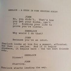 The beginning for John and Sherlock