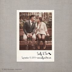 Vintage Polaroid Save the Date Magnet
