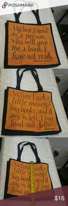 Barnes and Noble book tote New Barnes and Noble book tote Barnes and Noble Bags Totes