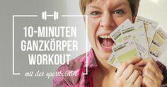 Das richtige Stabilisation- und Kraft-Workout für Läufer. Trainiere den ganzen Körper mit den Trainingskarten der sportboXX in nur 10 Minuten.