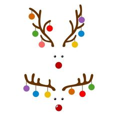 Reindeer Deer Bulb Cuttable Design Cut File. Vector, Clipart, Digital Scrapbooking Download, Available in JPEG, PDF, EPS, DXF and SVG. Works with Cricut, Design Space, Cuts A Lot, Make the Cut!, Inkscape, CorelDraw, Adobe Illustrator, Silhouette Cameo, Brother ScanNCut and other software.: