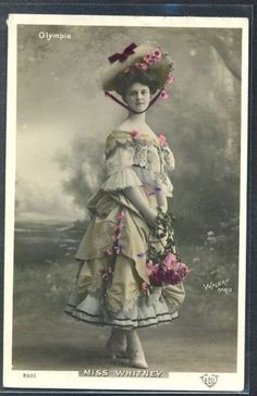 PW031-ARTIST-STAGE-STAR-Miss-WHITNEY-Large-HAT-Tinted-PHOTO-pc-WALERY-1907