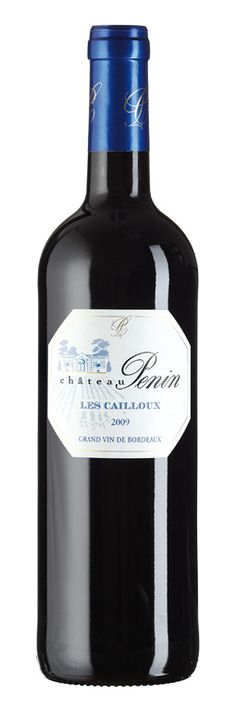 """2009 Châteaux Penin """"Les Cailloux"""", Merlot, Bordeaux made by the Carteyron family since 1854. http://usa.planet-bordeaux.com/bordeaux-in-the-u-s-a/chateau-profiles/chateau-penin/"""