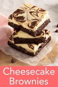 Chocolate Cheesecake Brownies, Cream Cheese Brownies, Best Brownies, Chocolate Cakes, Brownie Cake, Fudge Brownies, Mint Chocolate, Cheesecake Toppings, Brownie Toppings